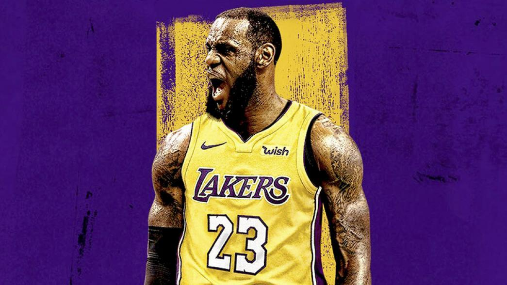 new product ba1c7 d4f13 Lebron James Laker Jersey