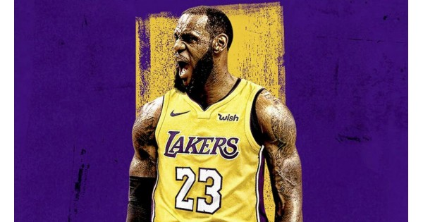 new product c6c11 11adb Lebron James Laker Jersey