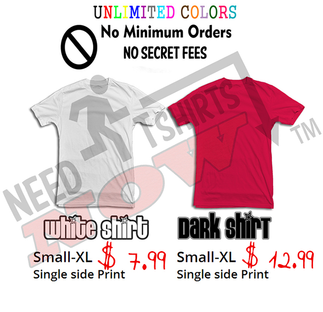 DTG Printing Prices. The lowest Direct to garment Printing Prices online.